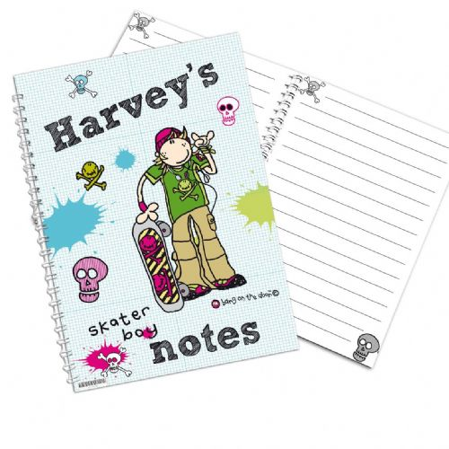 Personalised bang on the Door Skater Boy A5 Notebook